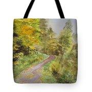 Autumn Riverside Walk Version1 Tote Bag