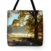 Autumn Road Tote Bag by Bill Wakeley