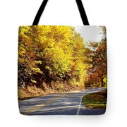Autumn Road Tote Bag by Mary Koval