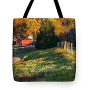 Autumn Road Morning Tote Bag