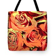 Autumn Roses On Your Wall Tote Bag