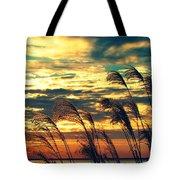 Autumn Skies Over The Ocean Tote Bag