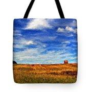 Autumn Sky Impasto Tote Bag