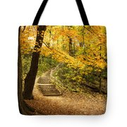 Autumn Stairs Tote Bag