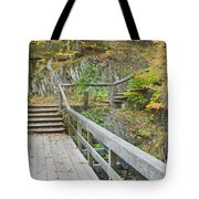Autumn Steps Near Smalls Falls In Maine Tote Bag