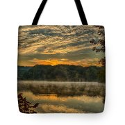 Autumn Sunrise At The Lake Tote Bag