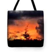 Autumn Sunrise From The Back Deck Tote Bag