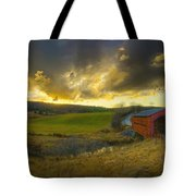 Autumn Sunset Over Meech Creek And Tote Bag