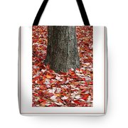Autumn Tree Poster Tote Bag