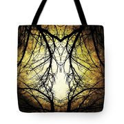 Autumn Tree Veins Tote Bag