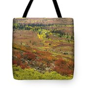 Autumn Tundra With Boreal Forest Tote Bag
