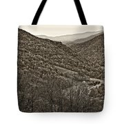 Autumn Valley Sepia Tote Bag