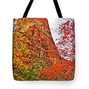 Autumn View Along Zion Canyon Scenic Drive In Zion National Park-utah Tote Bag