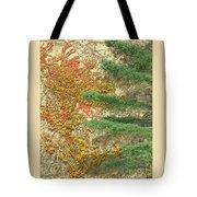 Autumn Vine And Evergreen Tote Bag