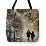 Autumn Walk On The C And O Canal Towpath Tote Bag