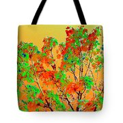 Autumn Watercolor Painting Tote Bag
