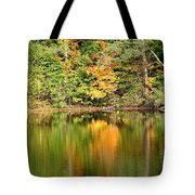 Autumn Watercolor Reflections Tote Bag