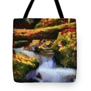 Autumn Waterfall Canvas Tote Bag