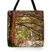 Autumnal Colors In The Summer Time. De Haar Castle Park Tote Bag