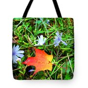 Autumns First Leaf Tote Bag