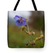 Autumns Misty Wildflowers Tote Bag
