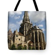 Autun Cathedral View Burgundy Tote Bag