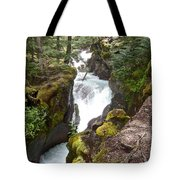 Avalanche Creek In Glacier Np-mt Tote Bag