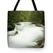 Avalanche Creek In Spring Run Off Tote Bag