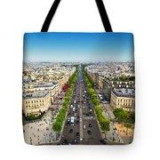 Avenue Des Champs Elysees In Paris France Wood Print by Michal Bednarek a298c5915c3c8