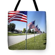 Avenue Of The Flags Tote Bag