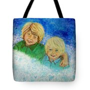 Avery And Atley Angels Of Brotherly Love Tote Bag