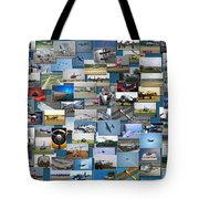 Aviation Collage Tote Bag