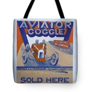 Aviator Goggle Sold Here Poster Tote Bag
