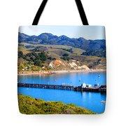 Avila Beach California Fishing Pier Tote Bag