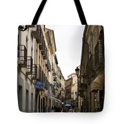 Avila Street Blue Umbrella Tote Bag