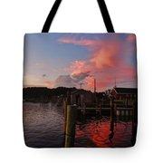 Avon Harbor And Church 1 8/27 Tote Bag
