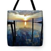 Avon Harbor Sunset Reflections 7/26 Tote Bag