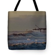 Avon Pier High Surf 3 3/11 Tote Bag