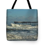 Avon Pier Ocean Pounding 3 2/08 Tote Bag