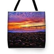Avon Pier Shells Sunrise Tote Bag