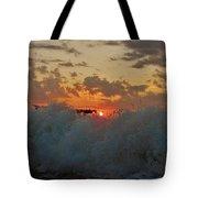 Avon Pier Splash Sunrise 7/26 Tote Bag