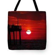 Avon Pier Sunrise 1 7/26 Tote Bag