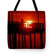 Avon Pier Sunrise 2 7/26 Tote Bag