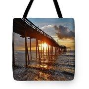 Avon Pier Sunrise 5 8/06 Tote Bag