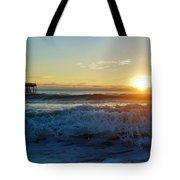 Avon Pier Sunrise 6 10/17 Tote Bag
