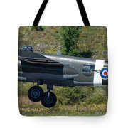 North American B-25 Mitchell Bomber Taking Off. Tote Bag