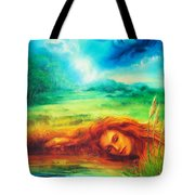 Awakening Blue Tote Bag