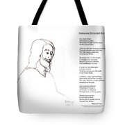 Awakening Divine Self Worth Sketch Of Jesus 2 Tote Bag