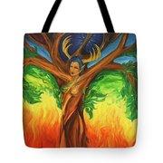 Awakening The Chakra Tree Tote Bag