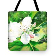Awesome Apple Blossoms Tote Bag
